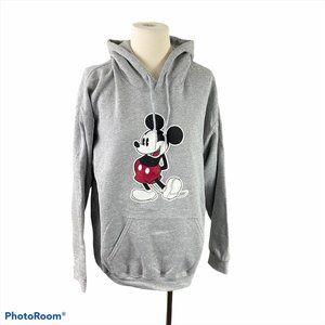 DISNEY Grey Mickey Mouse Hoodie NWT
